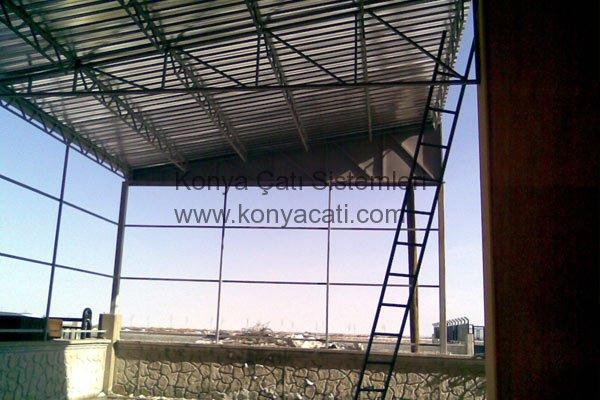 Buğday Silosu, Çatı Kaplama İşleri